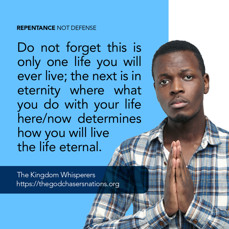 Repentance Not Defense