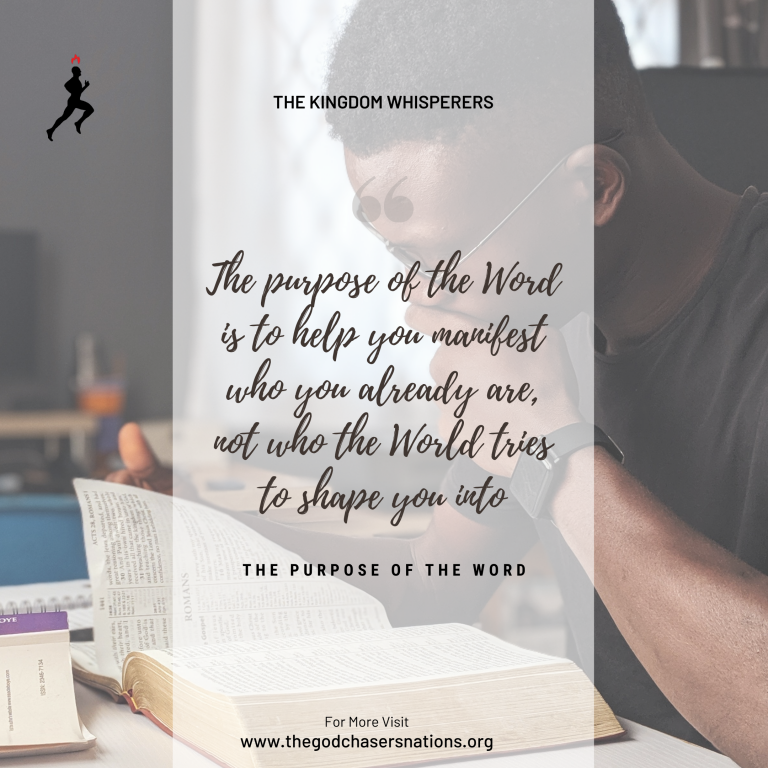 The Purpose Of The Word