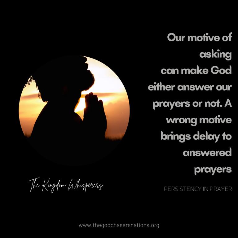 Persistency in Prayer