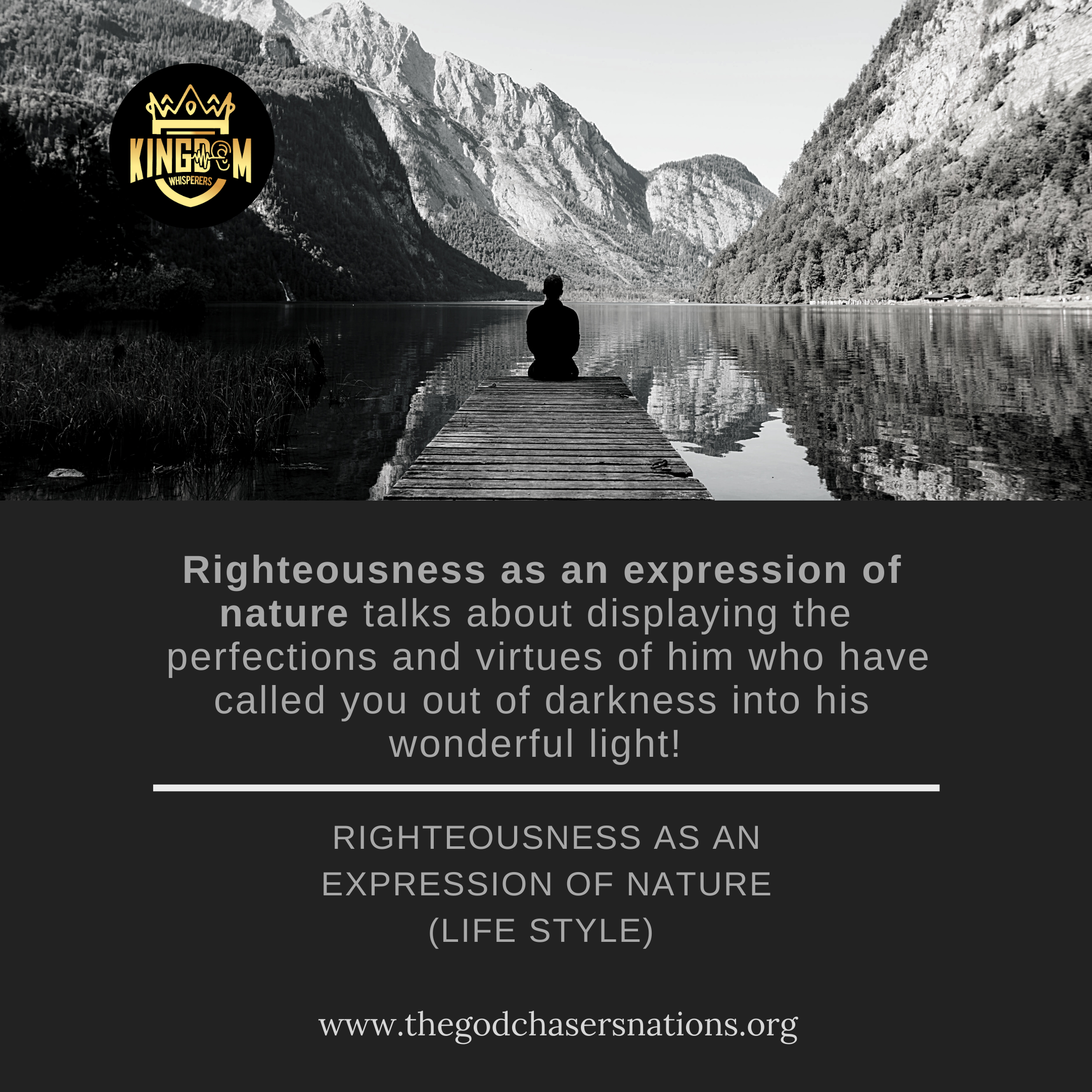 Righteousness As An Expression Of Nature Life Style